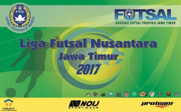 logo liga futsal nusantara jatim 2017