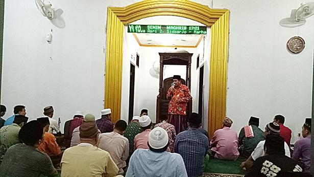 2-Sambutan Kepala Desa Jumputrejo pada Safari Ramadhan di Surya Asri 2 Sidoarjo