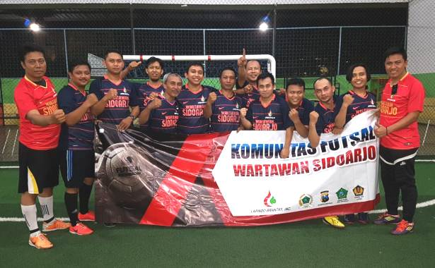 Didukung Lapindo, Futsal Wartawan Sidoarjo Bertekad Raih Hasil Maksimal di Turnamen Antar-Pokja