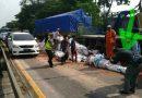 Kecelakaan Truk Gandeng dan Trailer di Tol, Sempat Macetkan Lalu Lintas, Kini Sudah Normal