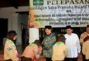 Wakil Bupati Lepas Kontingen Sako Pramuka Ma'arif NU Sidoarjo Ikuti Pergamanas II di Cibubur