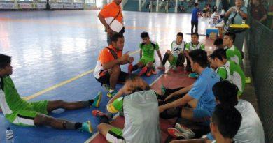 Tim futsal Sumatera Utara saat tampil di kualifikasi PON XIX.