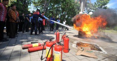 kebakaran simulasi sby