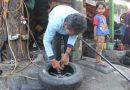 Tukang Tambal Ban Naik Haji, Menabung Tiap Hari Rp 20 Ribu Ditaruh di Bawah Kasur