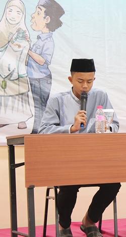 3-Qorik cilik Syarif Agil menjadi inspirasi anak-anak yatim belajar membaca Al-Quran