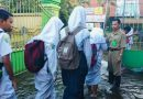 Masih Terdampak Banjir, Proses Belajar Mengajar SMPN 2 Tanggulangin Tetap Jalan