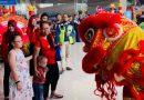 Bandara Juanda Hadirkan Nuansa Imlek, Tampilkan Barongsai dan Naga Liong
