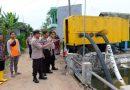 Kapolresta Sidoarjo Koordinasi dengan BPBD Sidoarjo Terkait Pengoperasian Pompa Air di Desa Terdampak Banjir
