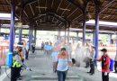 Gerak Cepat Lawan Corona, Polresta Sidoarjo bersama Instansi Terkait Semprotkan Disinfektan Serentak