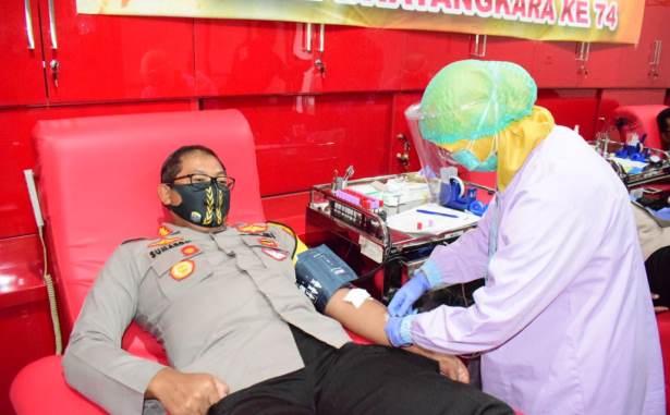 kapolresta sda donor darah
