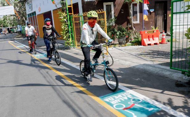 jalur sepeda kampung edukasi sampah