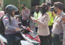 Operasi Patuh Semeru 2020, Puluhan Pengendara di Waru Sidoarjo Terjaring Tidak Pakai Masker