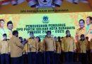 Dikukuhkan, Ketua DPD Golkar Surabaya Arif Fathoni Siap Menangkan Pemilu 2024