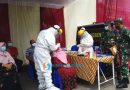 Kasi Ren Korem 084/Bhaskara Jaya Melihat Fasilitas PPKM Mikro RW 05 Perum Taman Candiloka Candi Sidoarjo
